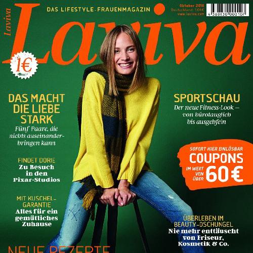 LAVIVA (Dezember 2017) für 1€ kaufen und Coupons im Wert von 60€ bekommen